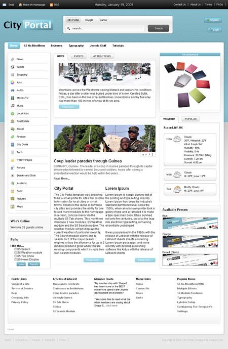 Представляем вам светлый новостной шаблон js shaper neo для joomla 303 от известных разработчиков шаблонов для